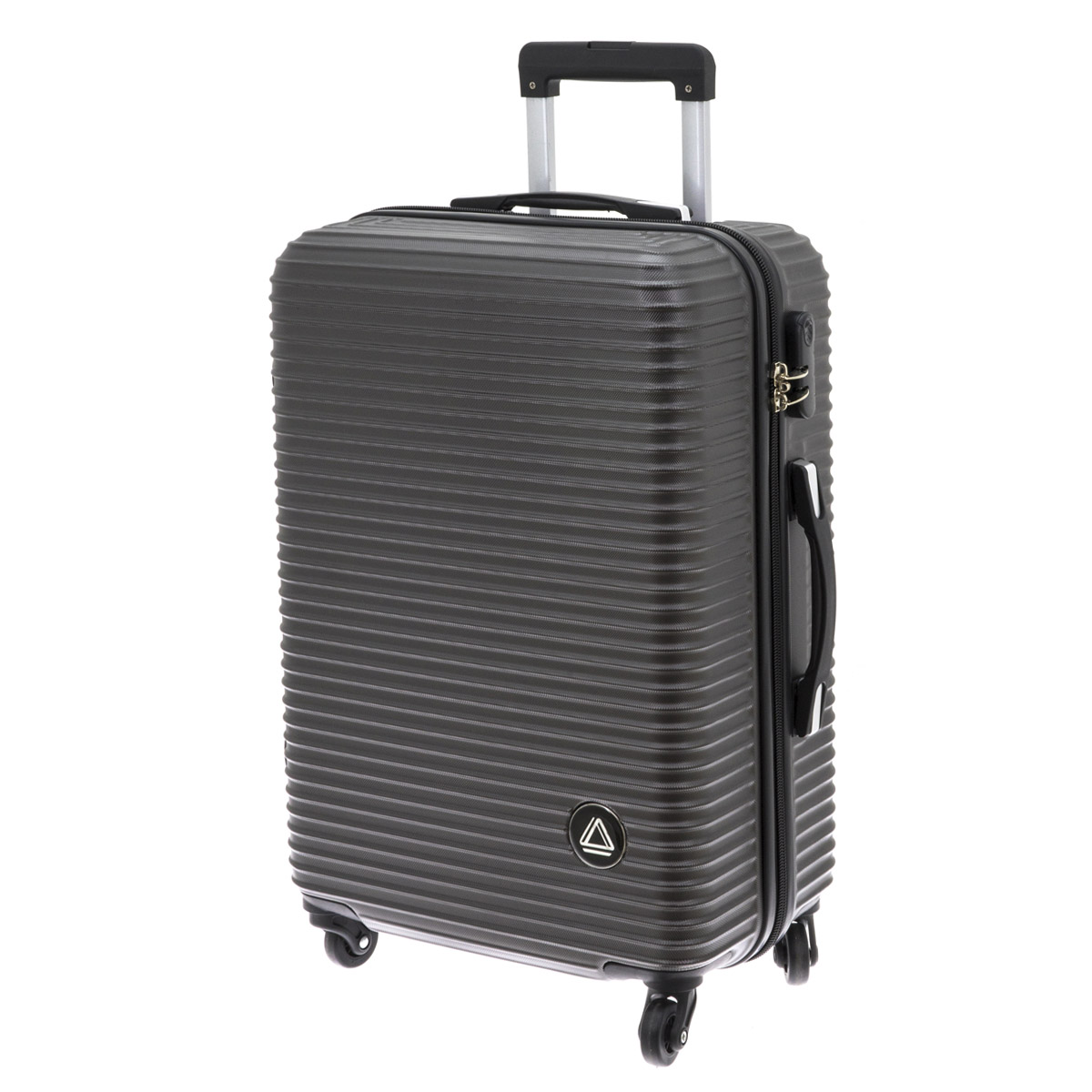 Valise trolley coque ABS \'Davidt\'s\' gris anthracite - 65x44x26 cm - [Q9938]
