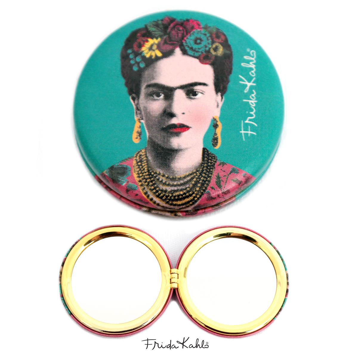 Miroir Créateur \'Frida Kahlo\' turquoise - 7x2 cm - [Q9964]
