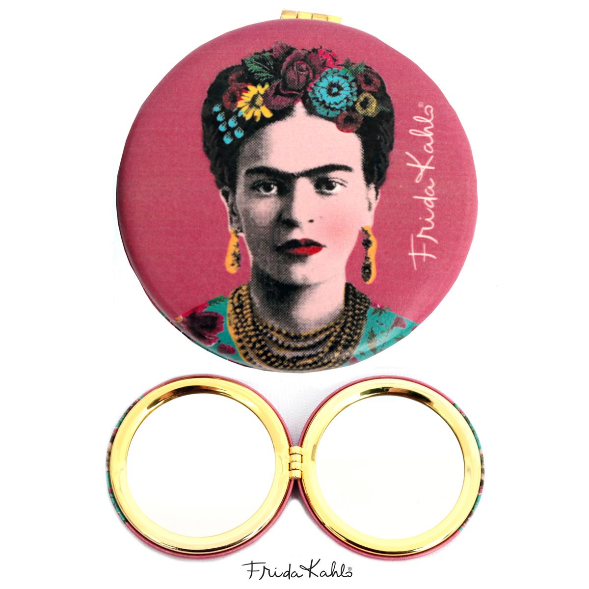 Miroir Créateur \'Frida Kahlo\' rose - 7x2 cm - [Q9965]