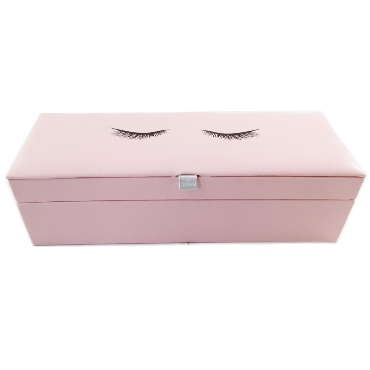 Coffret à Bijoux \'Diva - Yeux Endormis\' rose - 28x10x75 cm - [Q9986]
