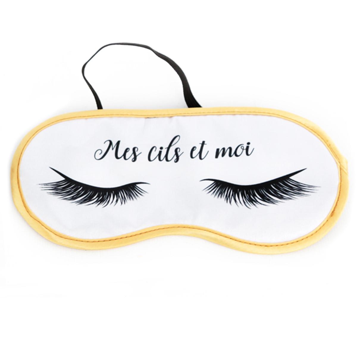 Masque de voyage \'Diva - Yeux Endormis\' blanc (Mes cils et moi) - 19x95 cm - [Q9995]