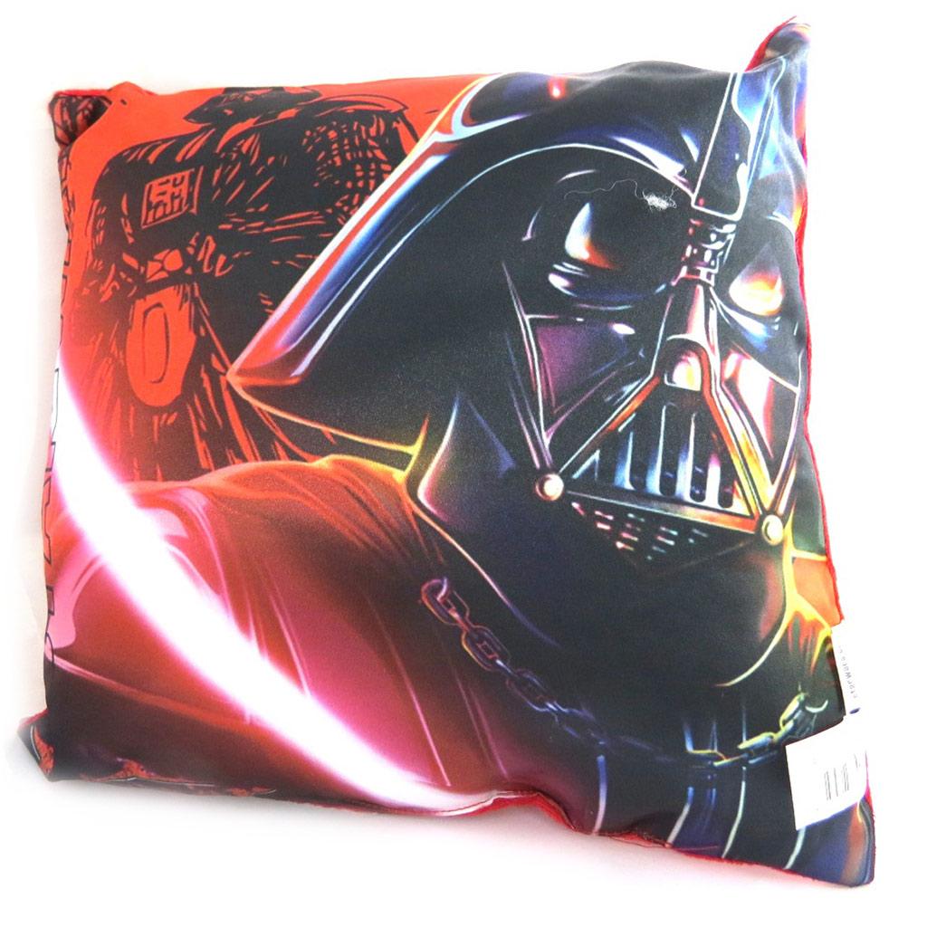 Coussin créateur \'Star Wars\' noir rouge (Dark Vador) - 30 cm - [N1373]