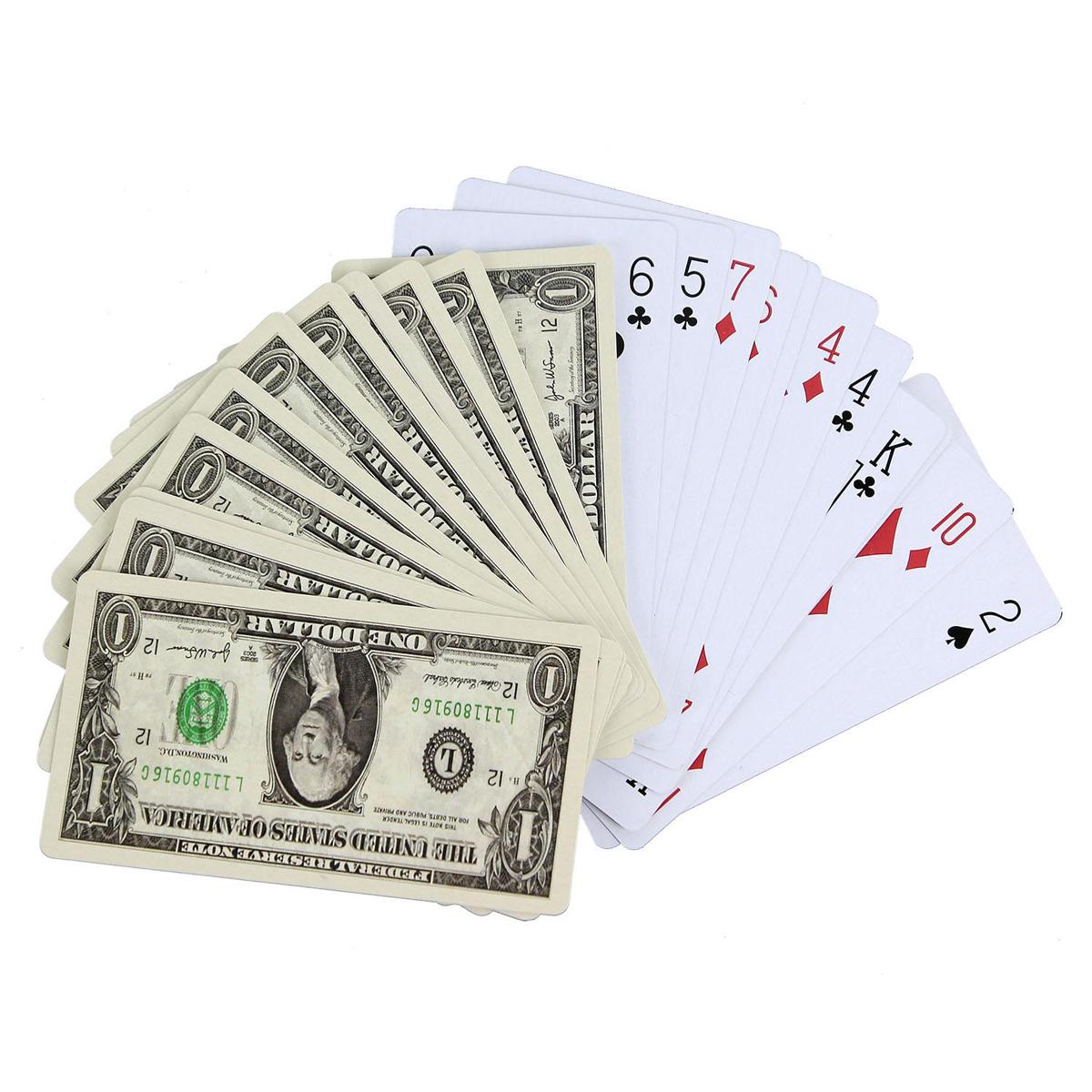 Jeu de 54 cartes \'Dollars\' - 10x55 cm - [L8780]
