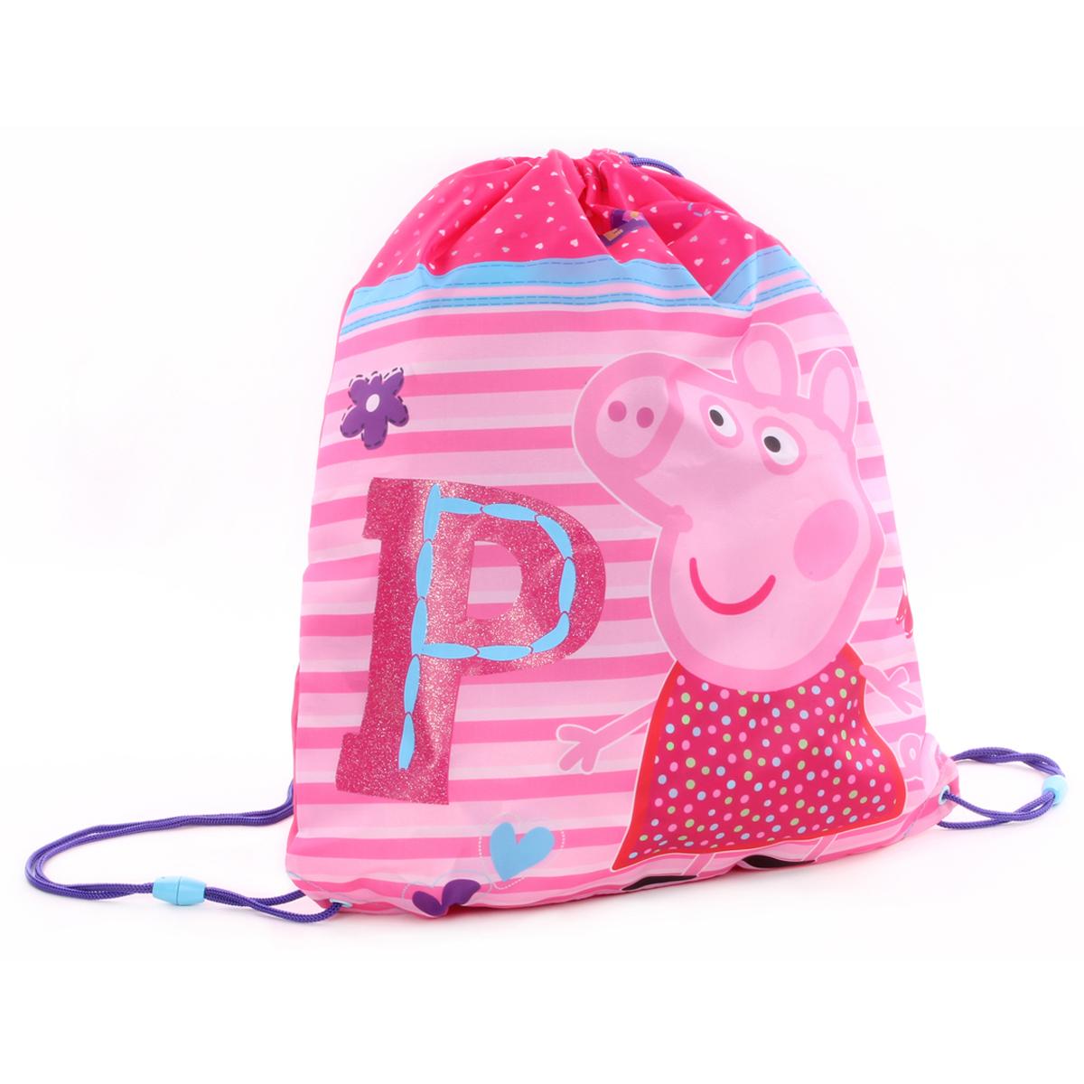 Sac de gym créateur \'Peppa Pig\' rose - 44x37 cm - [R0506]