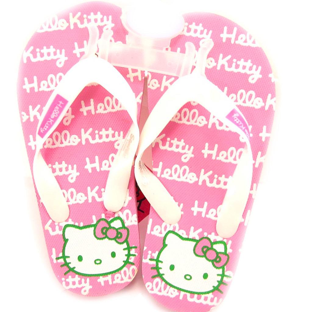 Tongs \'Hello Kitty\' rose - [L2085]