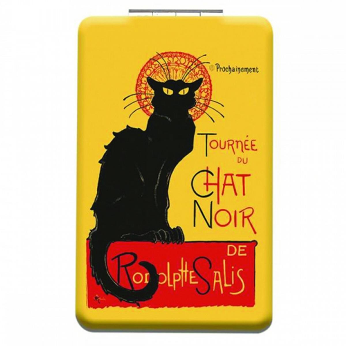 Miroir de poche \'Chat Noir de Rodolphe Salis\' jaune noir - 85x55 cm - [Q3113]