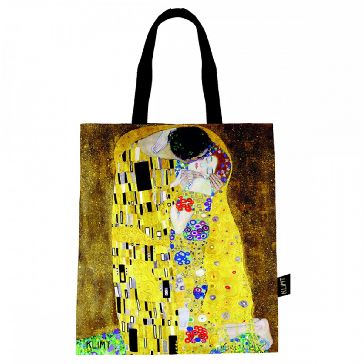 Sac coton / tote bag \'Gustav Klimt\' (le Baiser) - 44x38 cm - [R1996]
