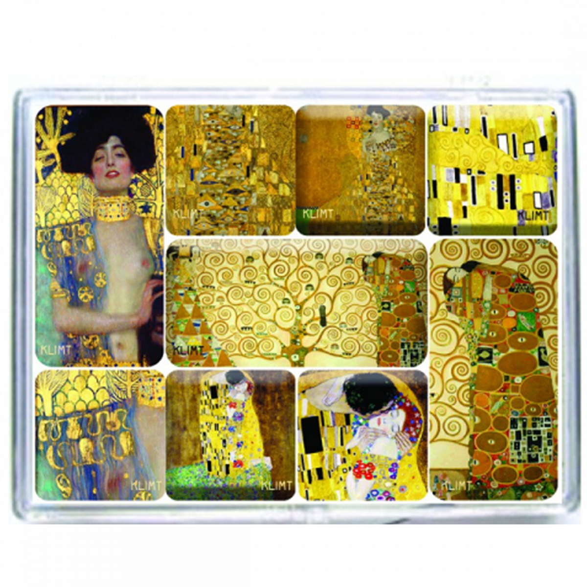 Coffret 9 magnets \'Gustav Klimt\' - coffret 9x65 cm - [R2984]