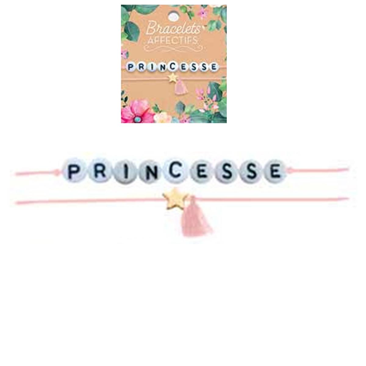 Bracelet tendresse \'Princesse\' - perles 6 mm - [R3046]
