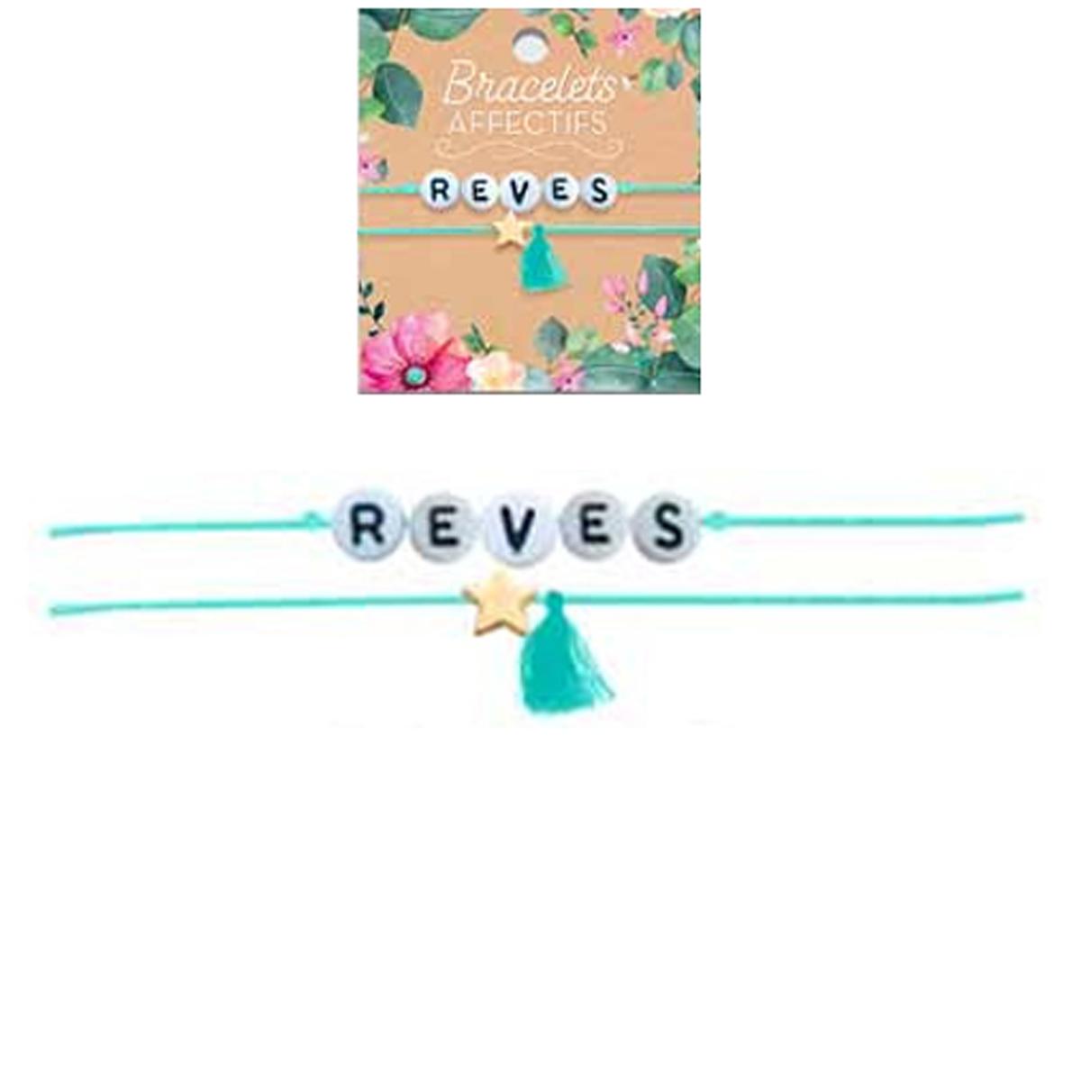 Bracelet tendresse \'Reves\' - perles 6 mm - [R3049]