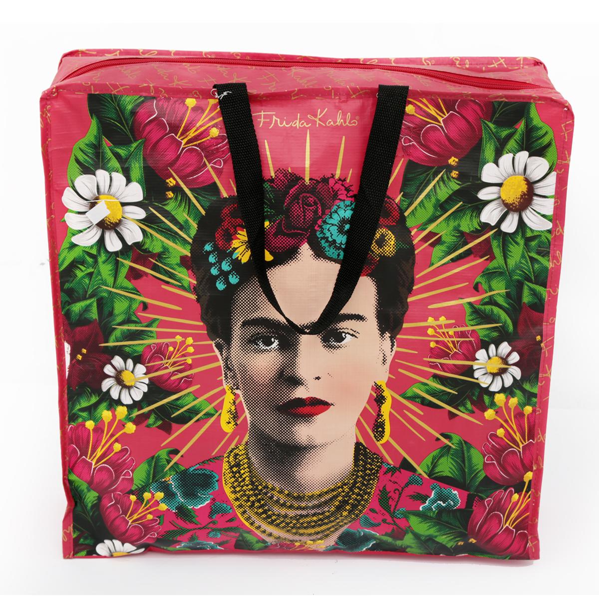 Sac Shopping rétro \'Frida Kahlo\' multicolore - 45x45x15 cm - [A0029]