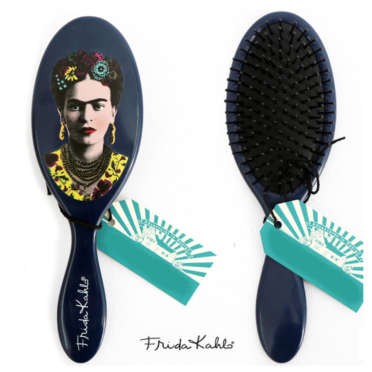 Brosse à cheveux \'Frida Kahlo\' bleu - taille unique - [A0034]