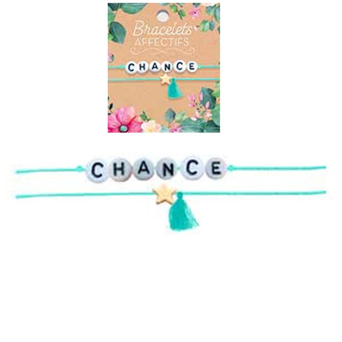 Bracelet tendresse \'Chance\' - perles 6 mm - [R3050]
