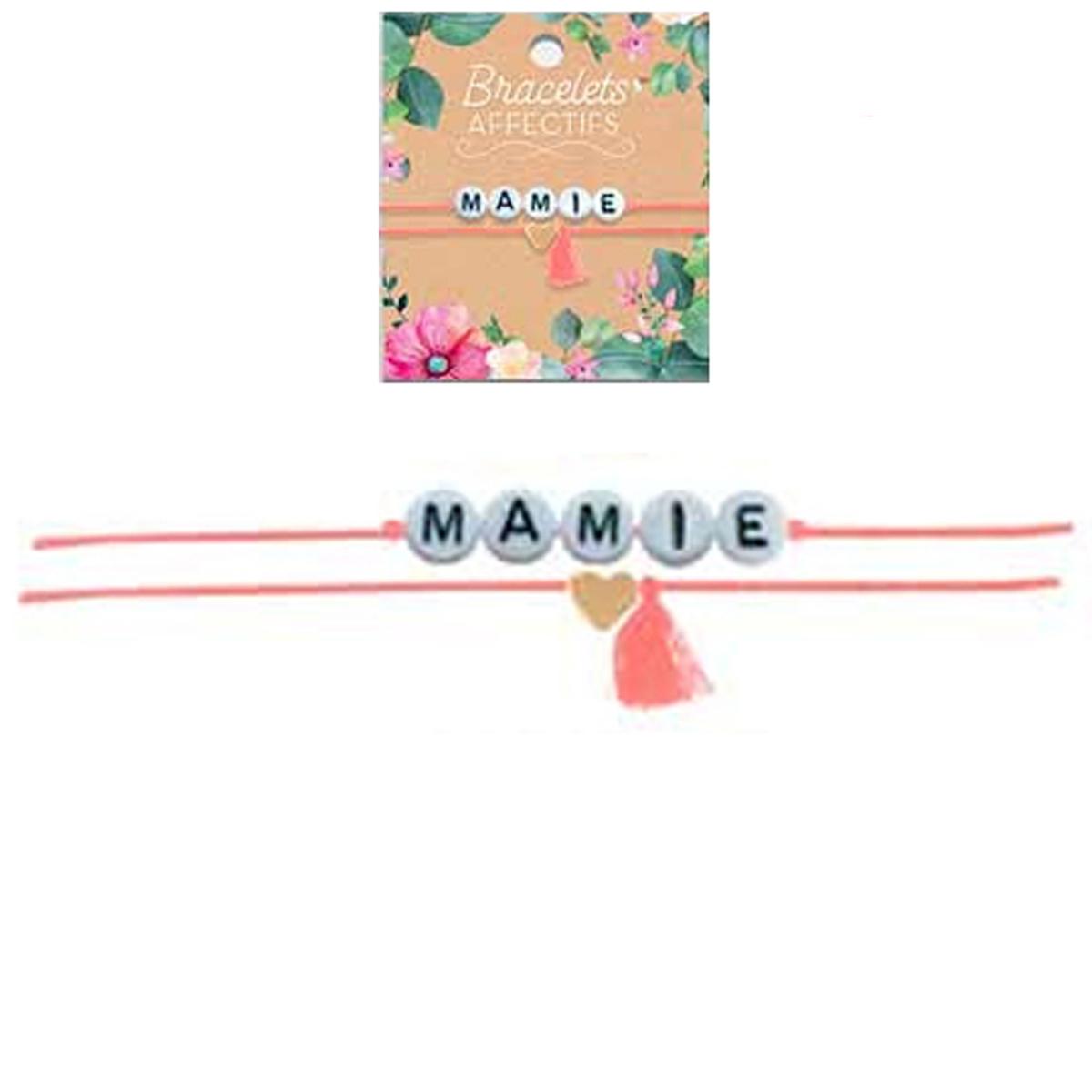 Bracelet tendresse \'Mamie\' - perles 6 mm - [R3055]