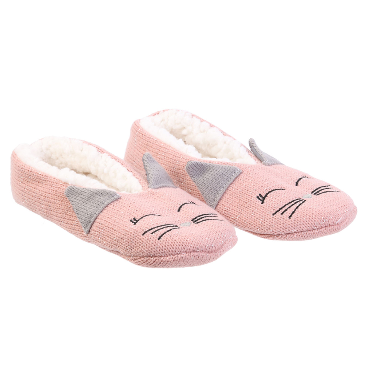 Chausson ballerines \'Chats\' rose - taille 39/41 - [A0046]