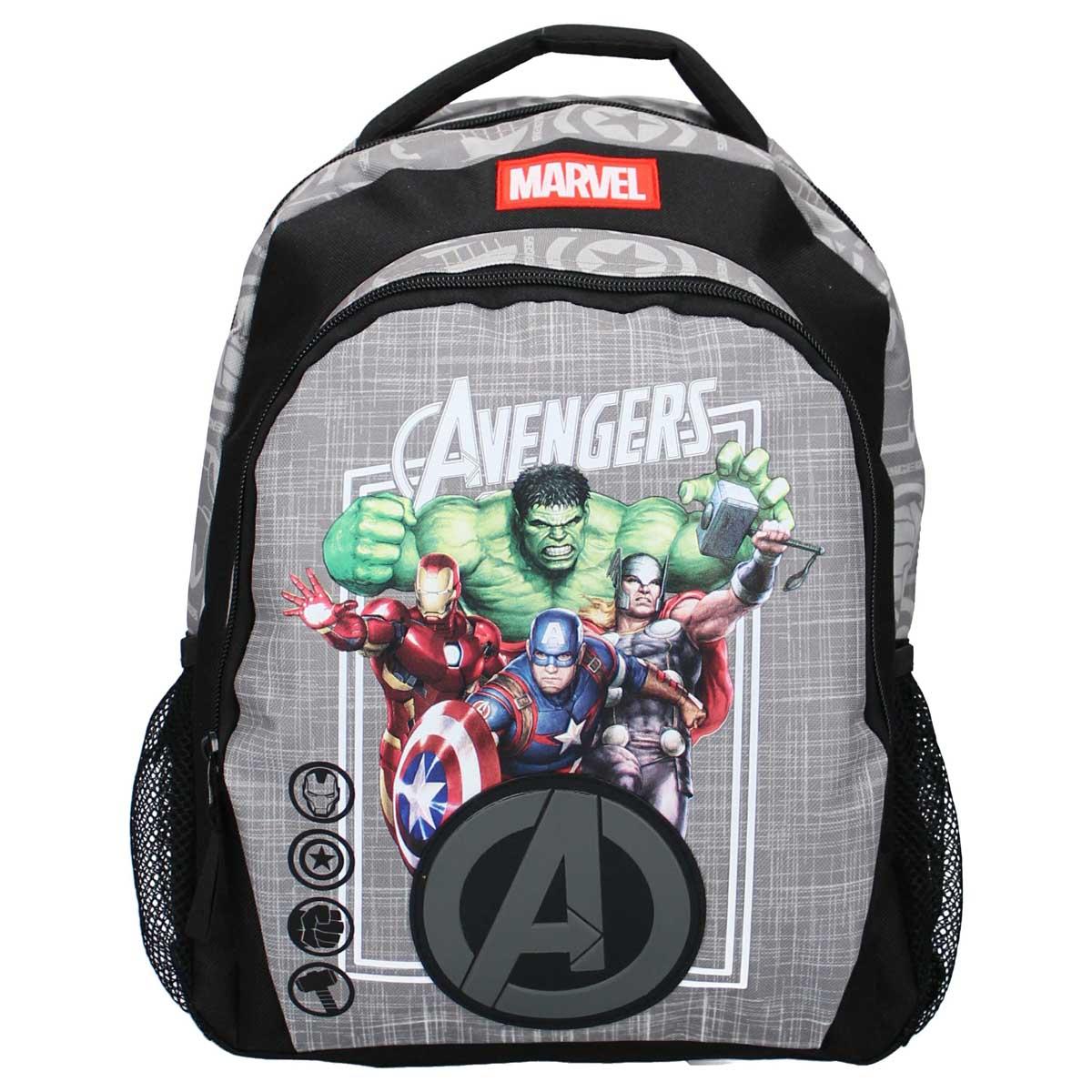 Sac à dos \'Avengers\' gris noir - 35x27x19 cm - [A0055]