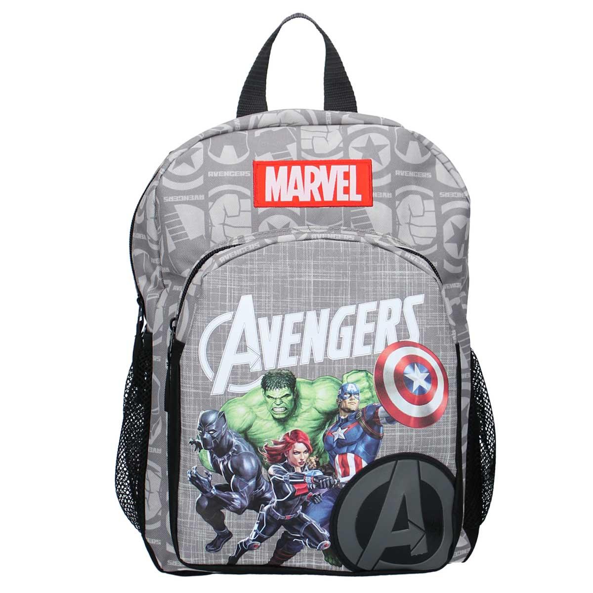 Sac à dos \'Avengers\' gris noir - 34x245x14 cm - [A0056]