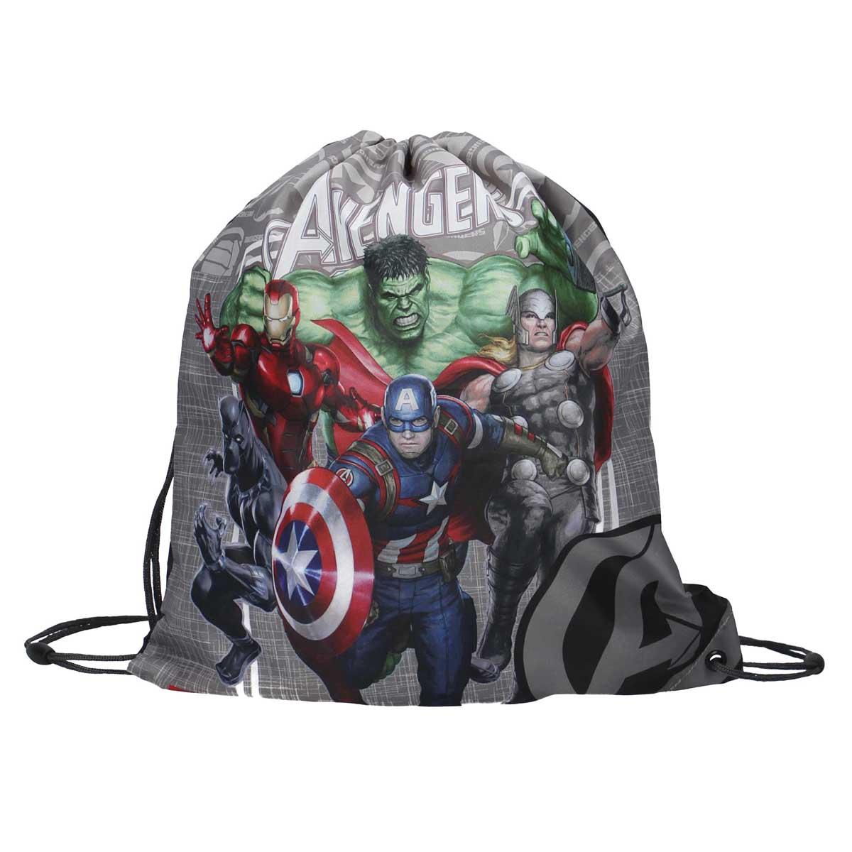 Sac piscine \'Avengers\' gris multicolore - 44x37 cm - [A0057]