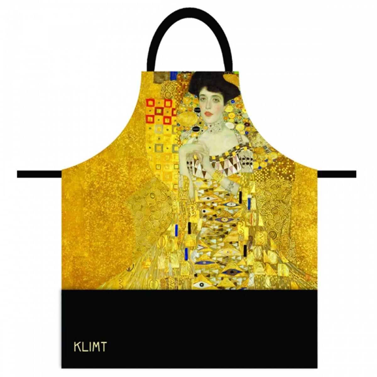 Tablier coton \'Gustav Klimt\' (Adèle) - 78x68 cm - [R2000]