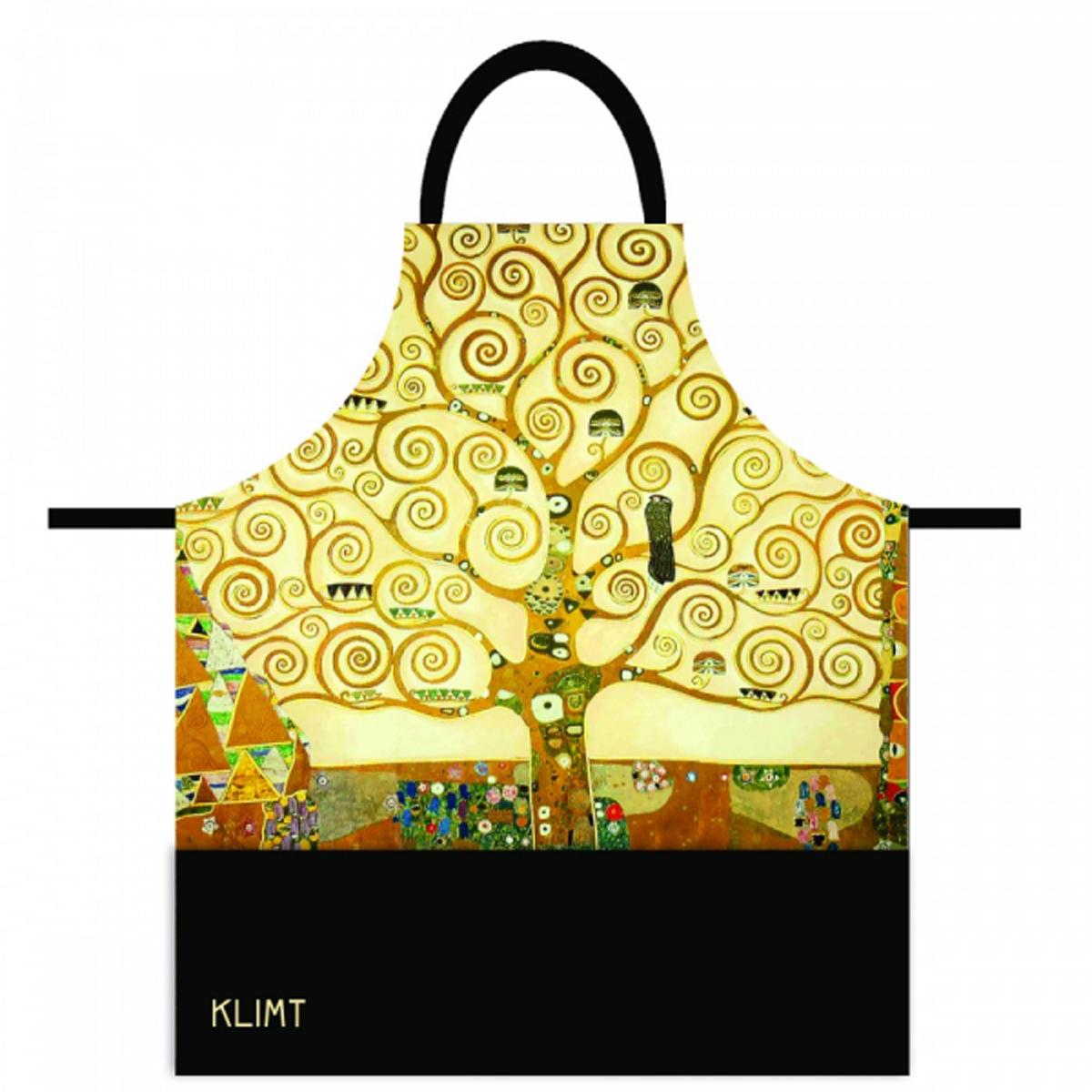 Tablier coton \'Gustav Klimt\' (Arbre de vie) - 78x68 cm - [R2001]