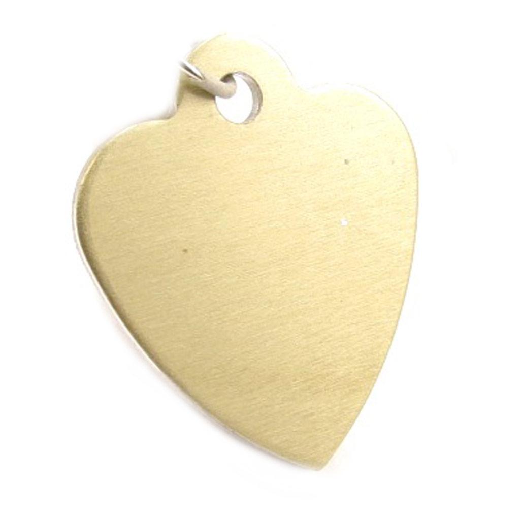Médaille Animaux \'Coeur\' Doré Laiton - [C2991]
