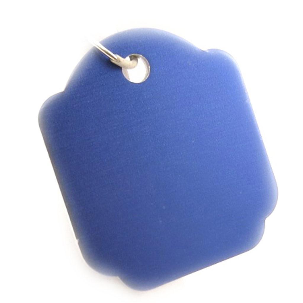 Médaille Animaux \'Carré\' Bleu - [C2998]