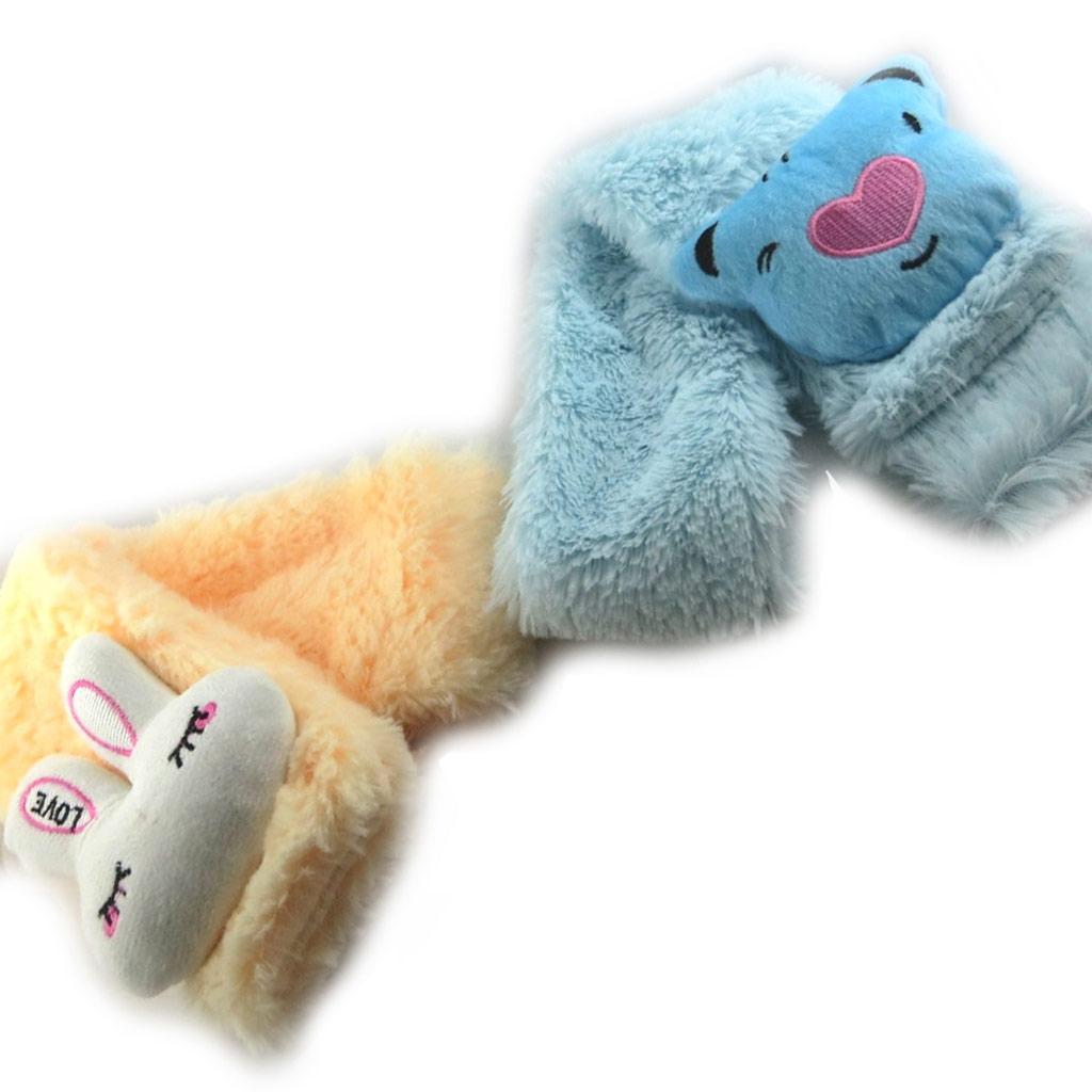 2 écharpes enfant \'Un amour d\'Animaux\' beige bleu - [K7879]