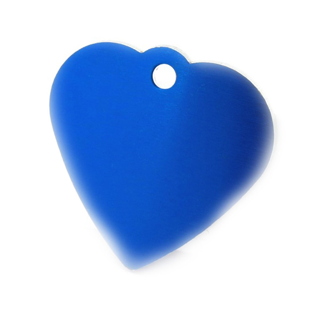 Médaille Animaux \'Coeur\' Bleu - [C3728]
