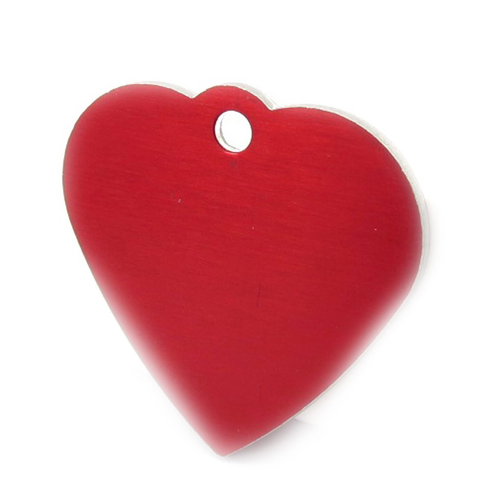 Médaille Animaux \'Coeur\' Rouge - [C3732]