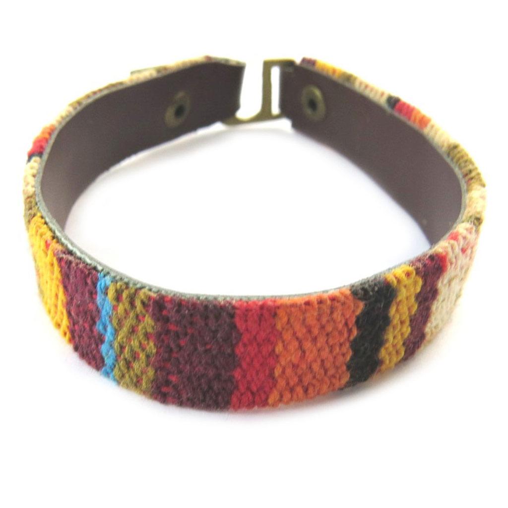 Bracelet créateur \'Kilimanjaro\' marron multicolore - [N7008]