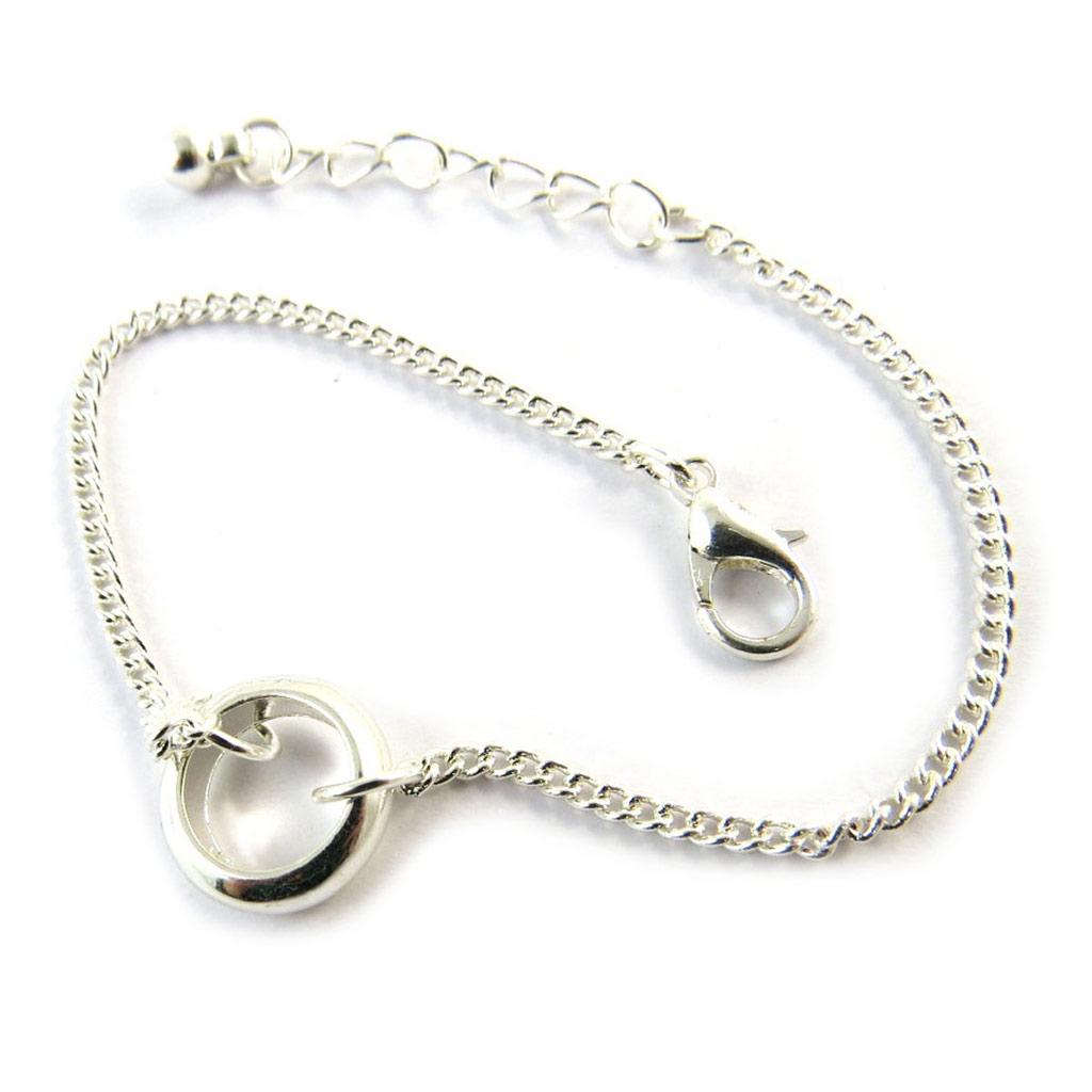 Bracelet \'Chorégraphie\' argenté  - [N7019]