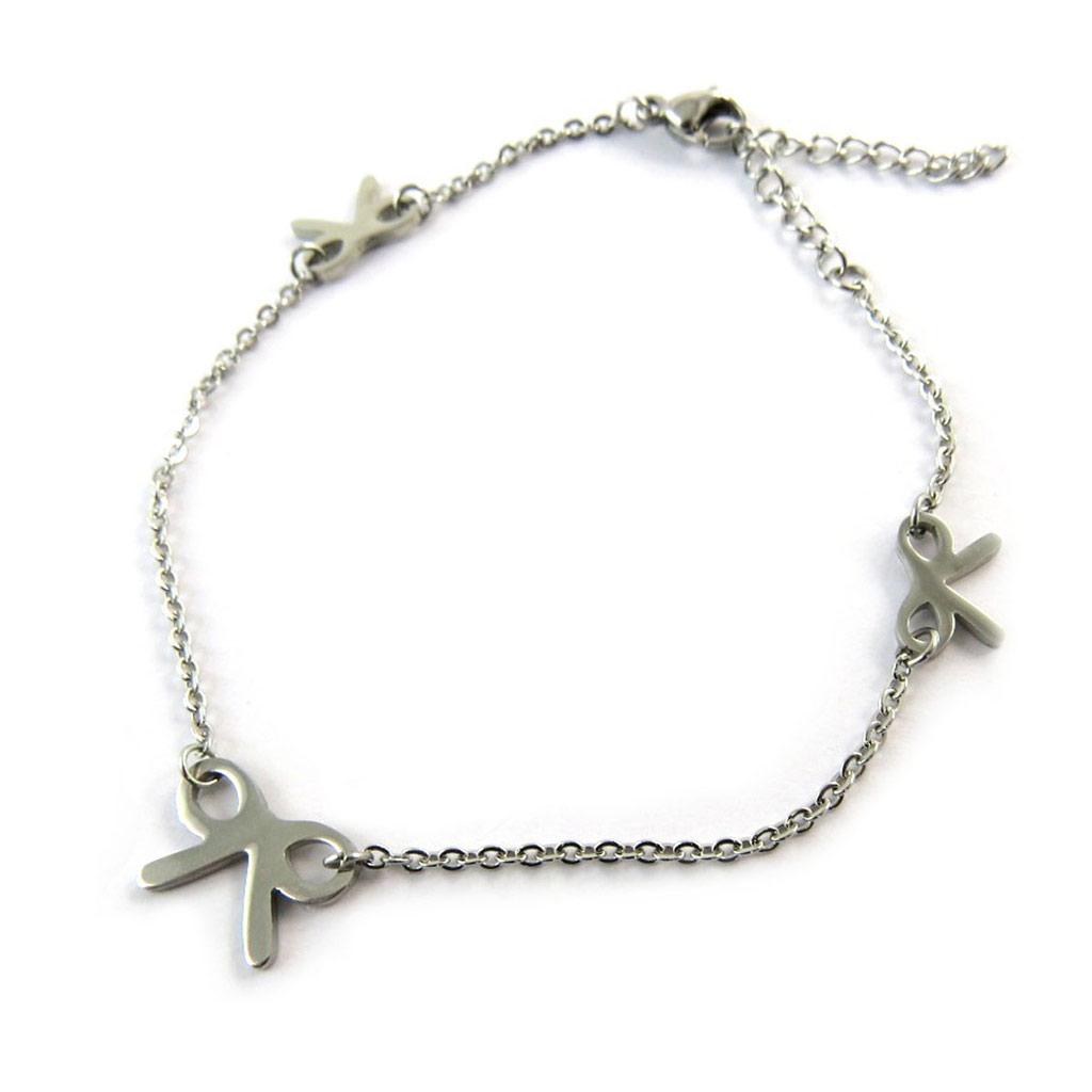 Bracelet créateur \'Noeud Romantique\' gris - [N7020]