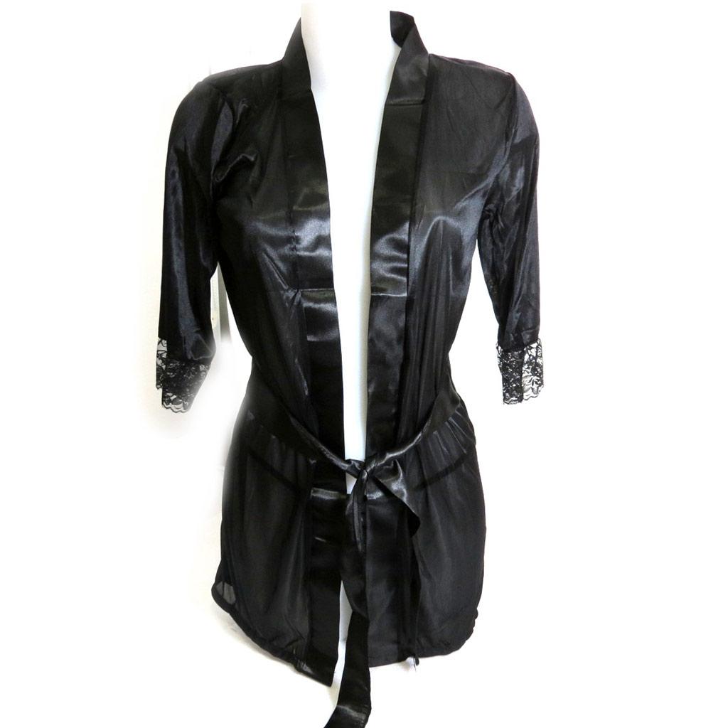 Kimono \'Scarlett\' noir - [K7892]