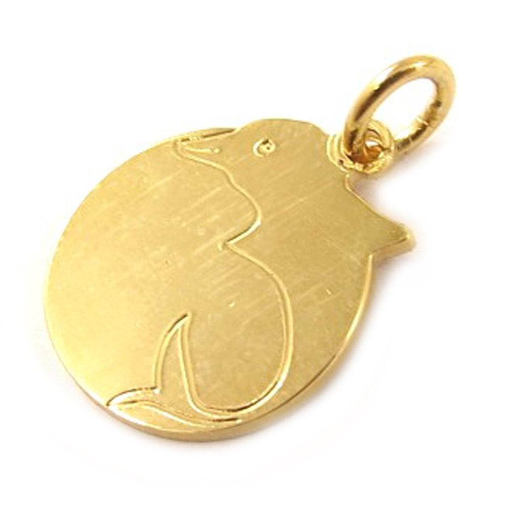 Médaille Plaqué Or \'Message Dauphin\'  - [C6836]