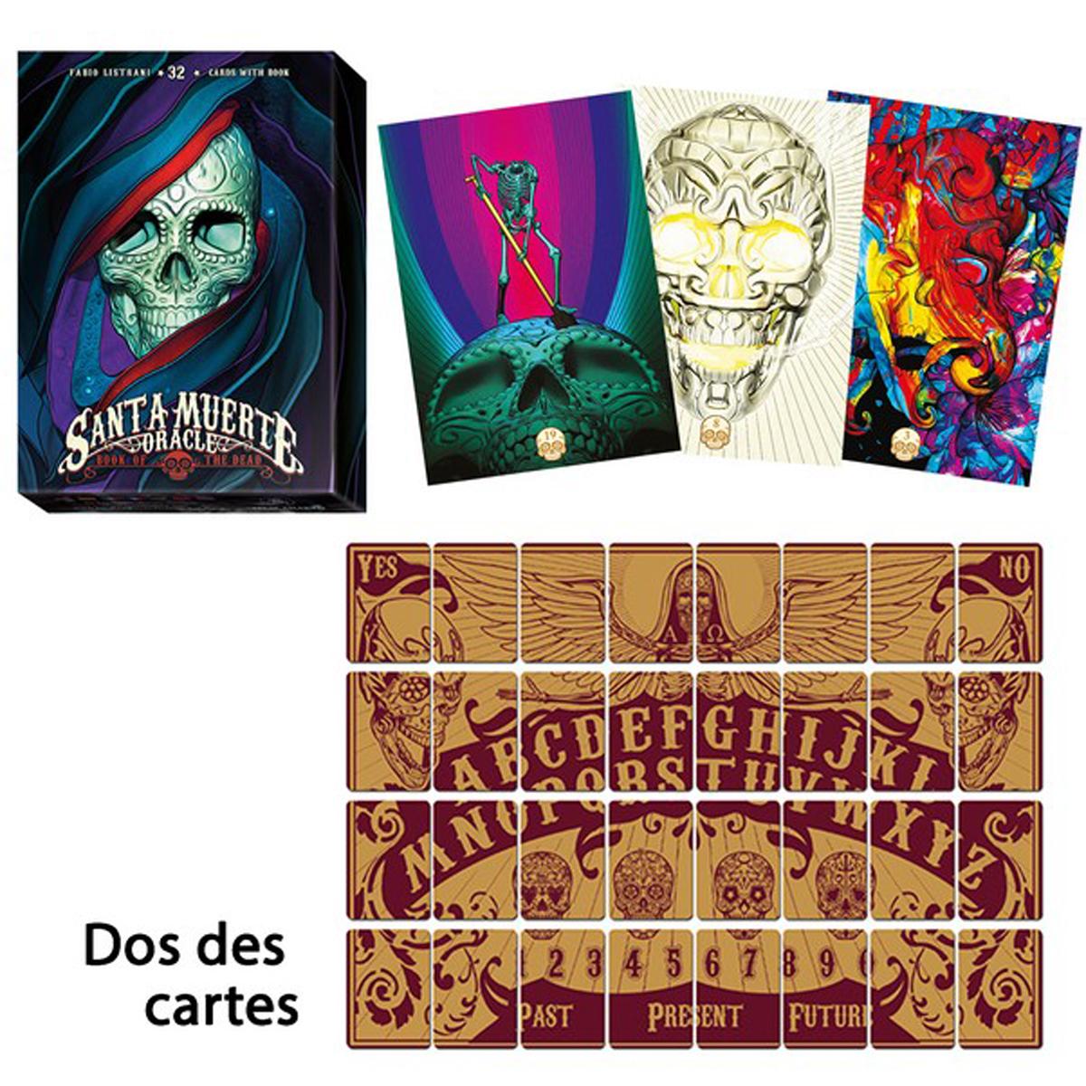 Jeu de cartes d\'inspiration \'Santa Muerte\' multicolore (oracles) - 135x10x3 cm - [R2816]