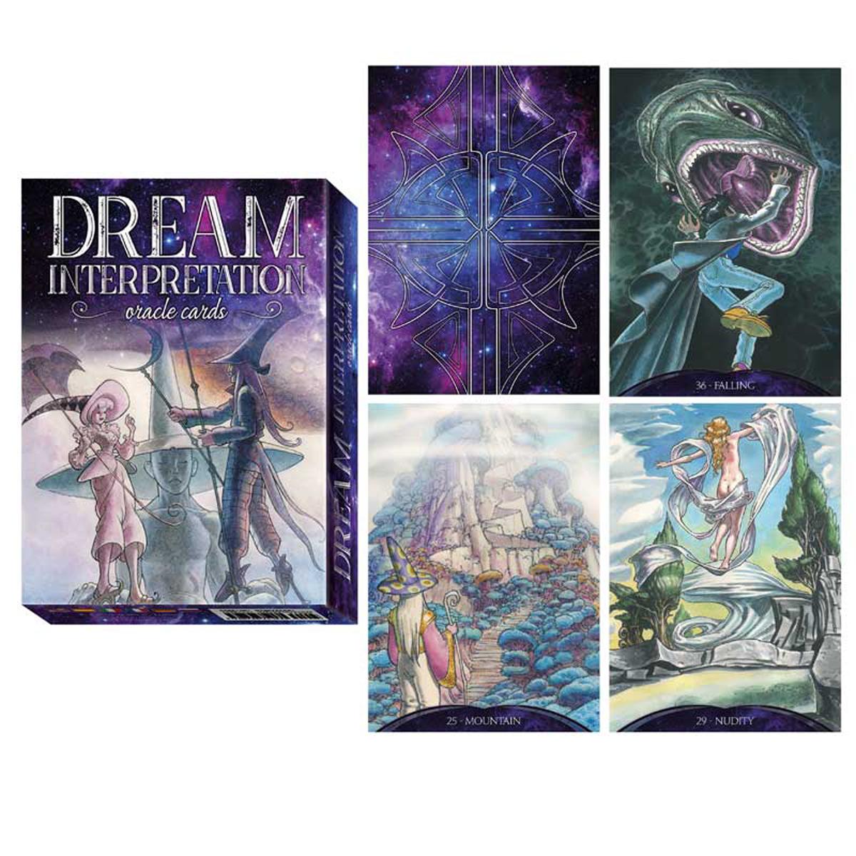 Jeu de cartes d\'inspiration \'Dream Interpretation\' violet (oracles) - 135x10x3 cm - [R2818]