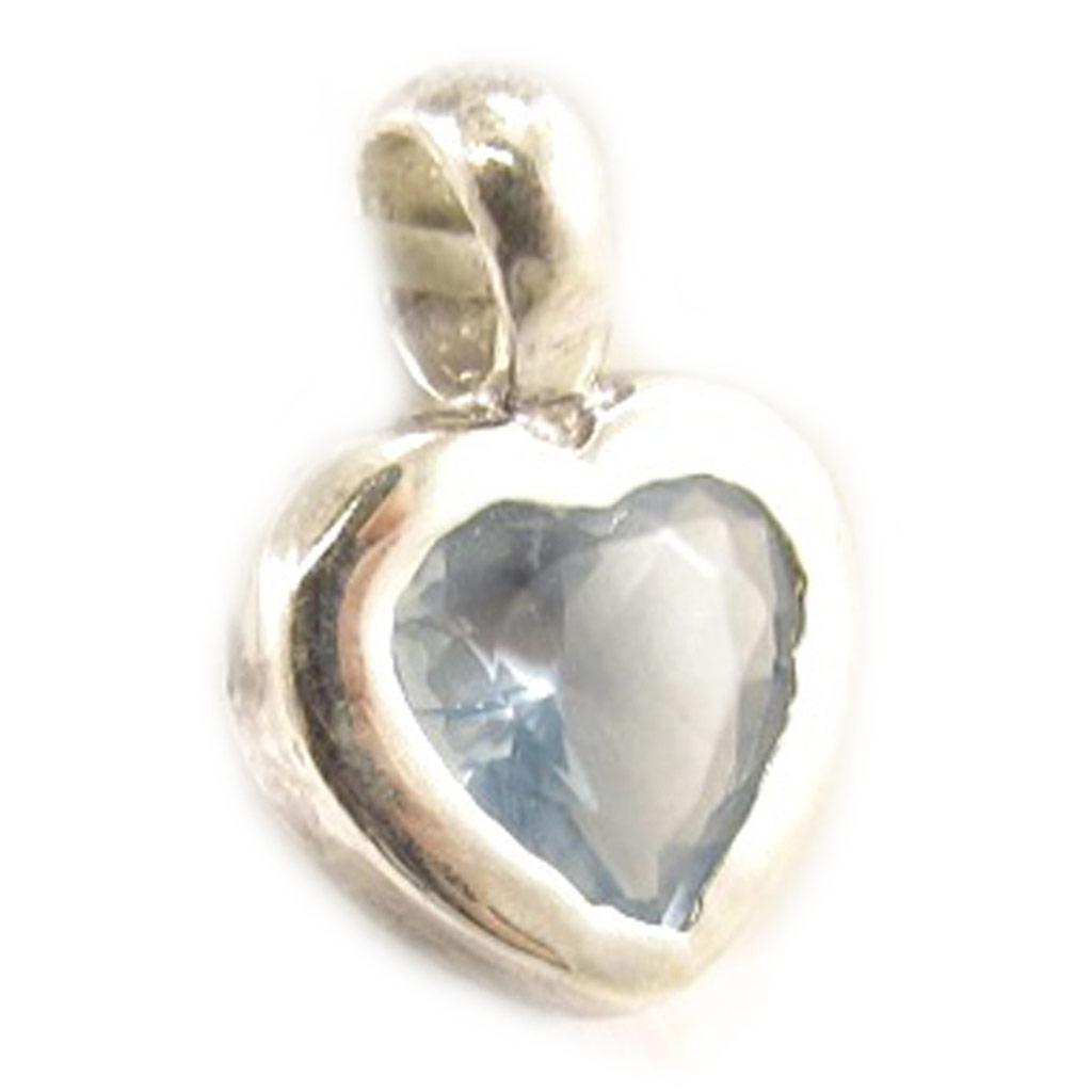 Pendentif Argent \'Love Azur\' Turquoise  - [D7200]