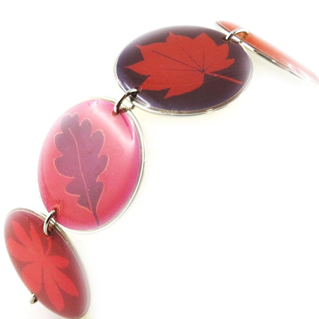 Bracelet Créateur \'Bambou\' Rose Violet  - [D8213]