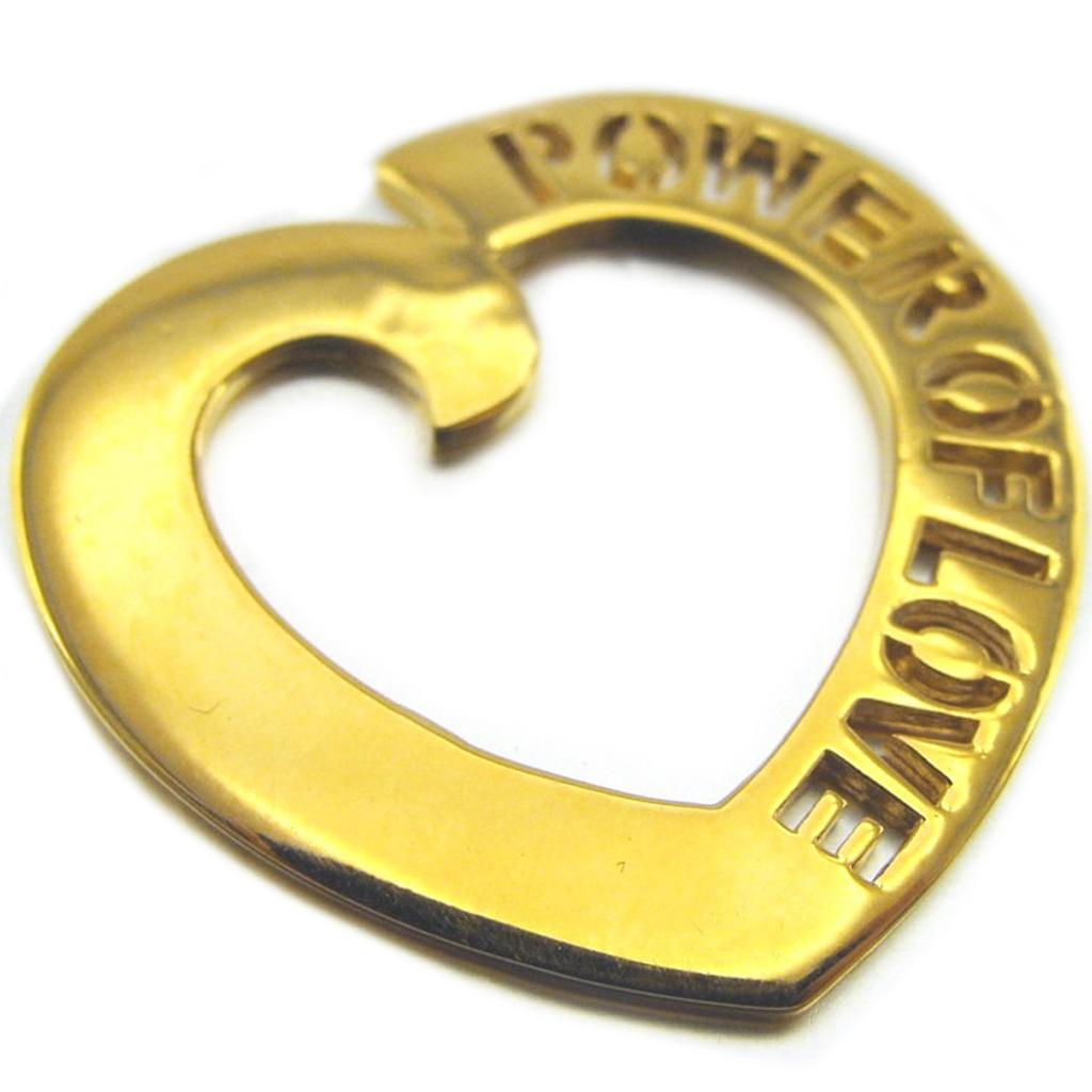 Pendentif Plaqué Or \'Power of Love\'  - [D9510]