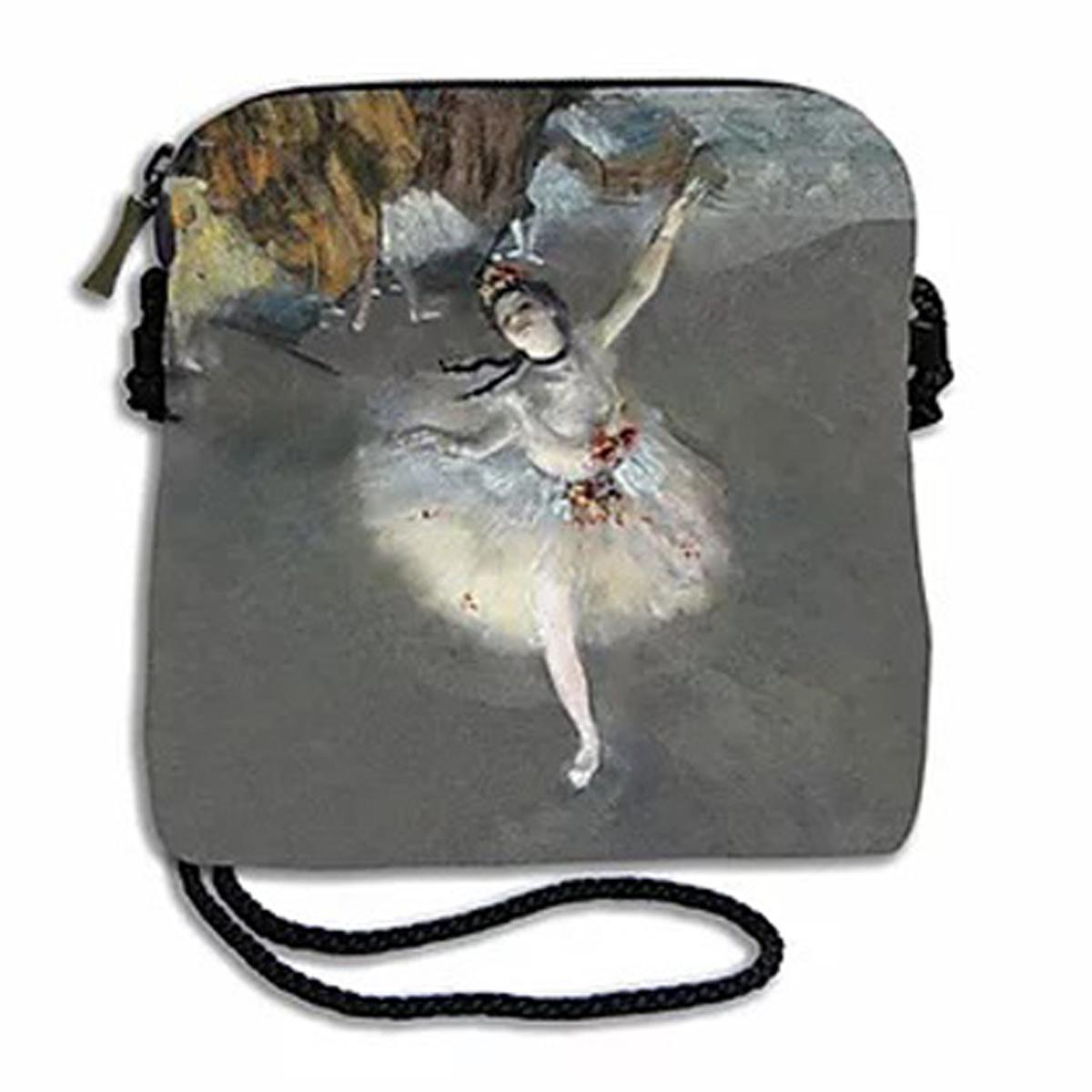 Sac bandoulière artisanal \'Edgar Degas\' (l\'Etoile)  - 18x17 cm - [A0312]