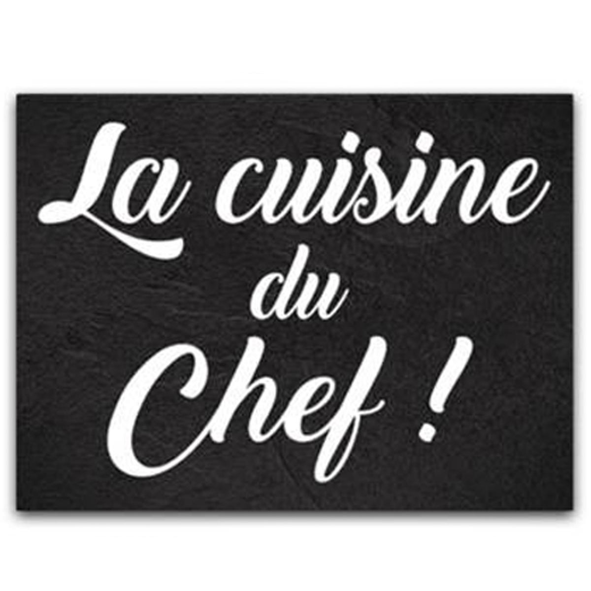 Planche à découpe / dessous de plat verre  \'Citations\' (La cuisine du chef !) - 40x30 cm - [P1047]