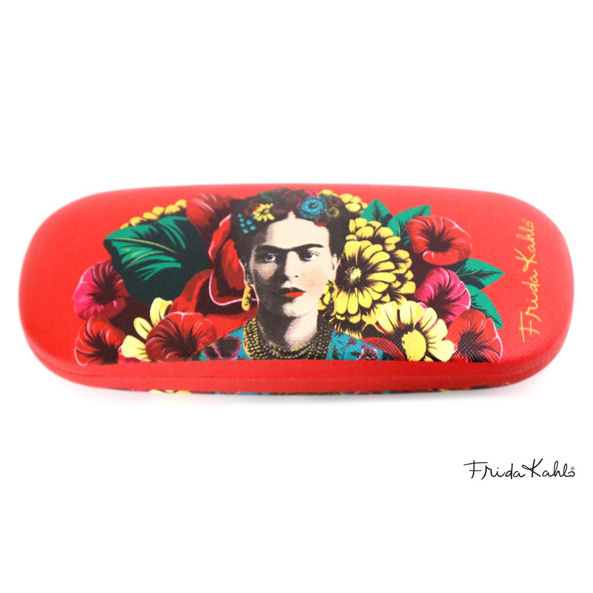Etui à lunettes créateur \'Frida Kahlo\' rouge - 15x6 cm - [A0004]