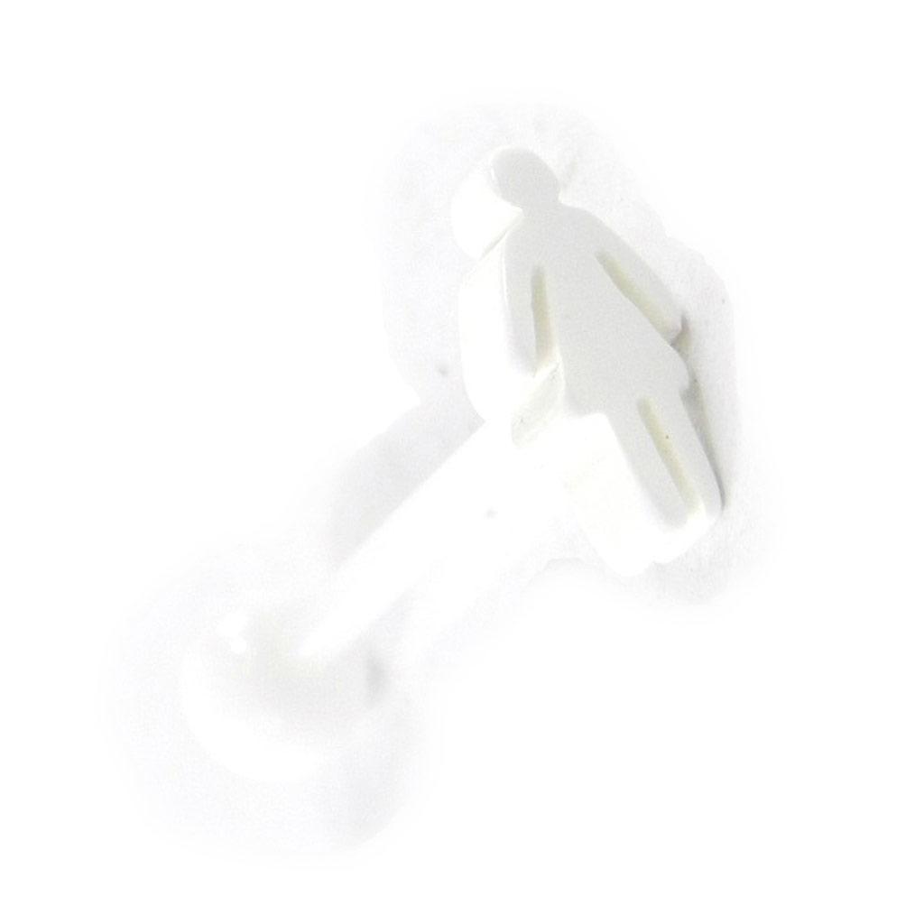 Piercing Langue \'Femme\' blanc - [H9240]