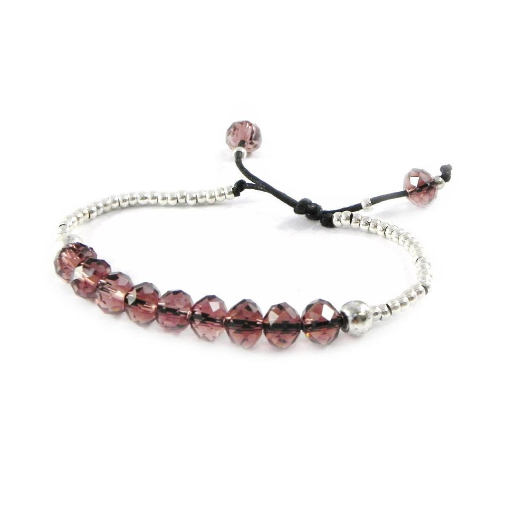 Bracelet créateur \'Minéralia\' violet - [H9812]