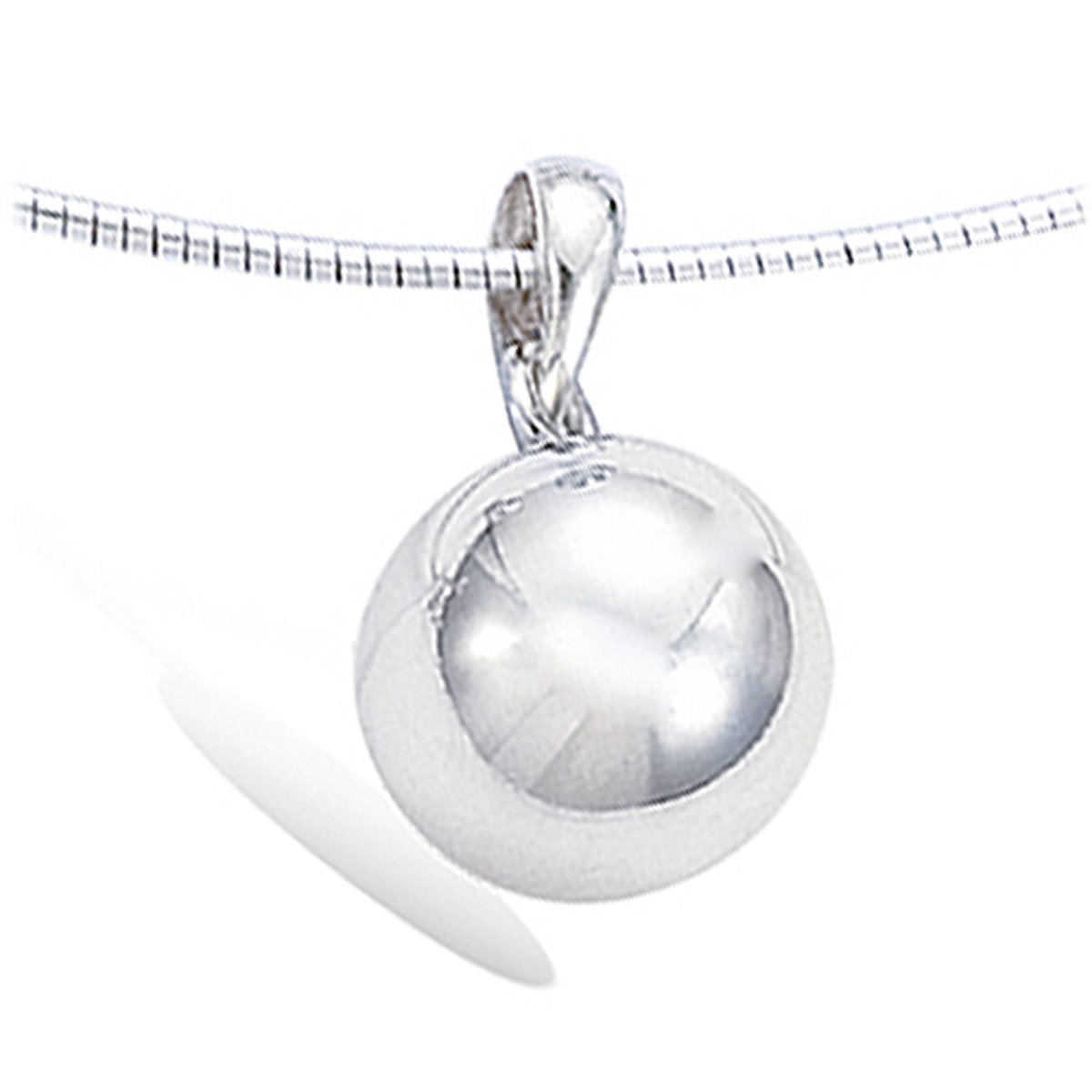 Pendentif Argent \'Billes\' argenté (rhodié) - 12 cm (boule entière) - [I4232]