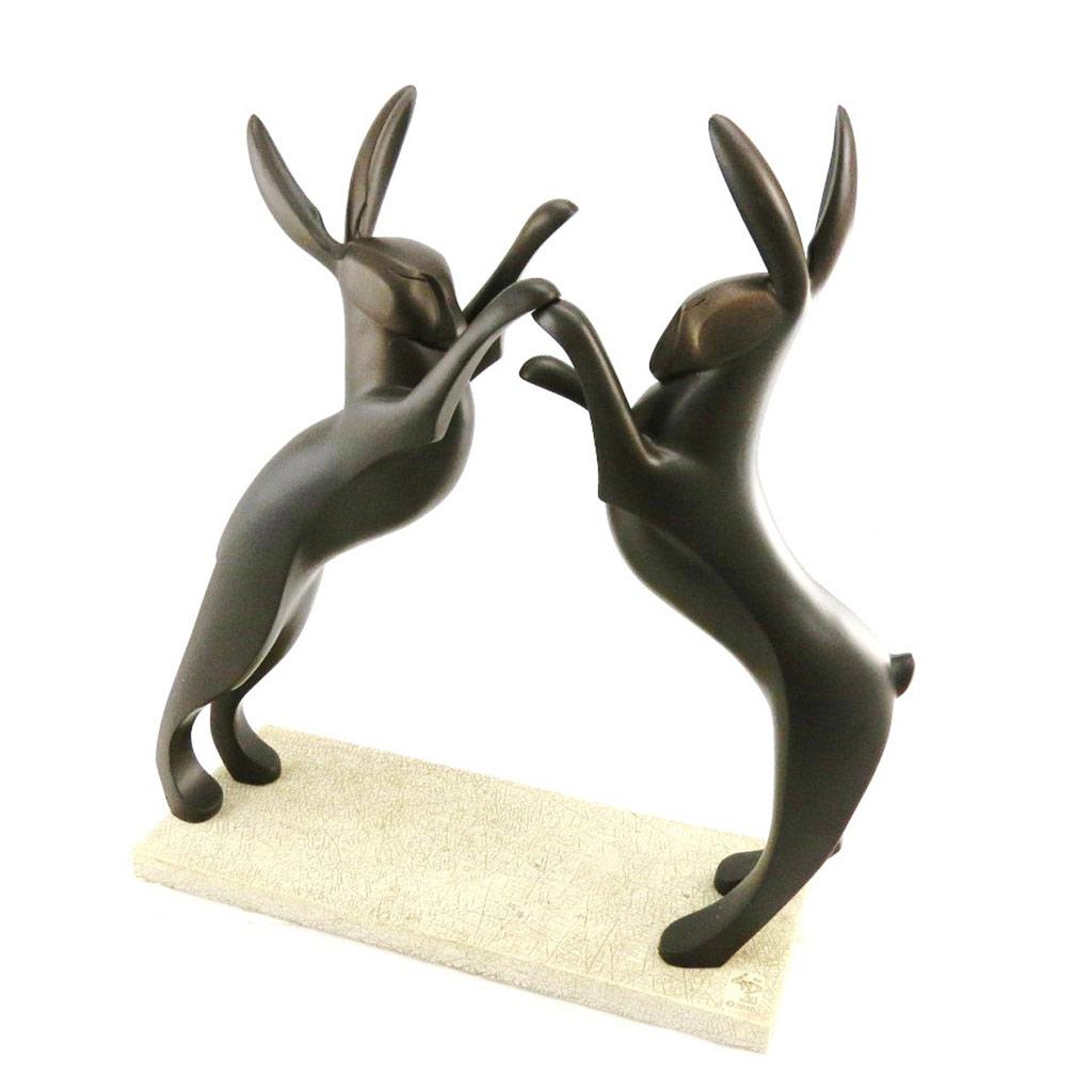 Figurine \'Combat Danse de Lièvres\'  - [I7150]