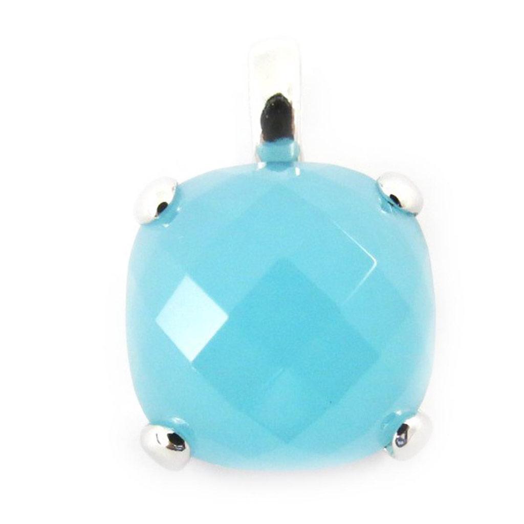 Pendentif Argent \'Linda\' aquamarine  - [J5260]