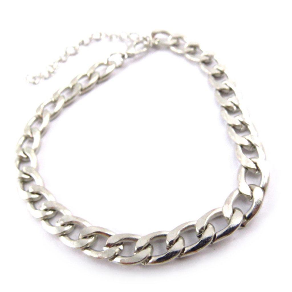Bracelet \'Maille Gourmette\' Argenté  - [J6868]