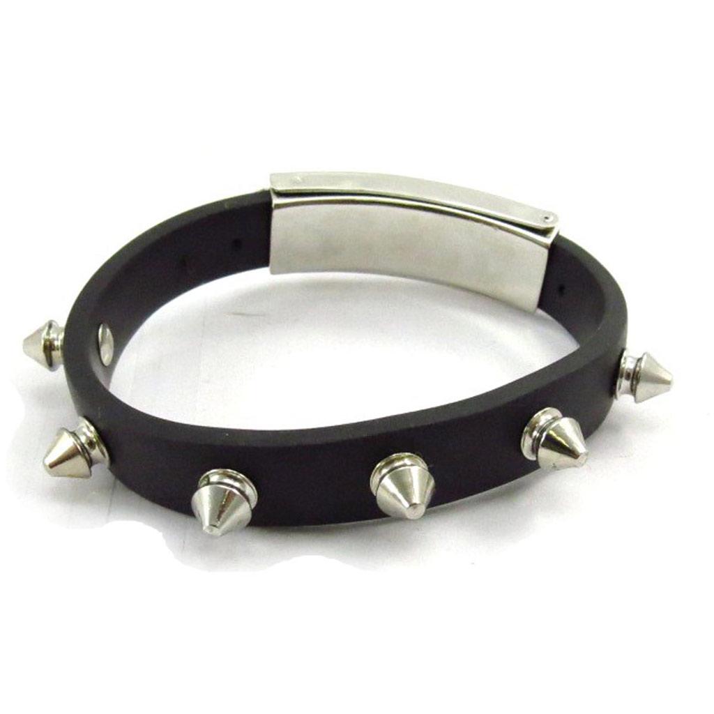 Bracelet mixte \'Peaceful\' Acier noir  - [J7225]