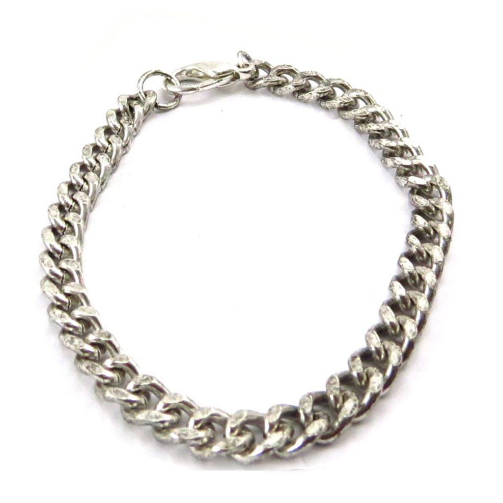 Bracelet \'Maille Gourmette\' Argenté  - [J7247]